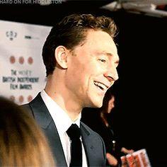 ~~(GIF 6/6) #TomHiddleston talks Christmas in 2012 BIFAs interview ~ source: hard-on-for-hiddleston.tumblr.com~~