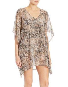 20e8148c366b5 Calvin Klein Snake Print Swim Cover Up Sz Large XLarge Swim Cover Up Dress