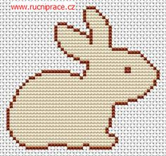 Bunny, free cross stitch patterns and charts - www.free-cross-stitch.rucniprace.cz