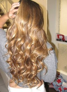 Ombre long hairstyle look