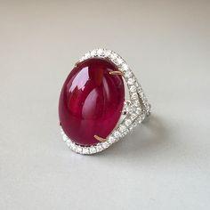 GABRIELLE'S AMAZING FANTASY CLOSET | Our latest award-winning diamond ring with a juicy tourmaline is guaranteed to turn heads! #tourmaline #red #fashionring