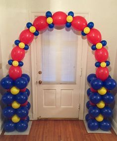 Balloon Arch: air-filled design uses no frame and no helium!