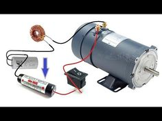 Run a 1500 Watts DC Motor with a 3 volt cell Cool Science Projects, Diy Lathe, Zero Point Energy, Motor Generator, Electronic Schematics, Energy Projects, Circuit Diagram, Electric Power, Alternative Energy
