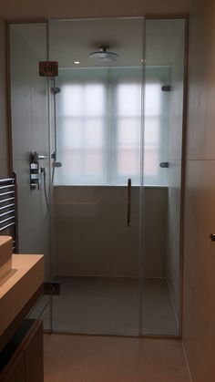 bathroom windows in shower Bathroom Windows In Shower, Window In Shower, Ensuite Bathrooms, Glass Shower, Shower Screens, Privacy Glass, Glass Screen, Bathroom Medicine Cabinet, Bathtub