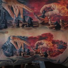 """""""#Checkmate by artist @levgen_eugeneknysh ! #chess #king WWW.SAVEMYINK.COM"""""""
