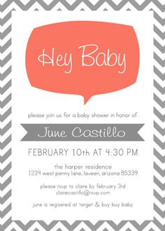 Baby Shower Invites from Modern Betty.