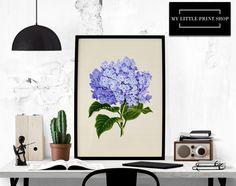 Vintage Purple Flower, Botanical Print, Gift for Her, Flower Print, Flower Wall