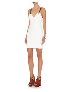 Barbara Bui Leather Strap Mini Dress