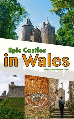 A list of epic castles in Wales you wouldn't want to miss when exploring this enchanting country in Great Britain. From an Ancient Roman fortress in Cardiff to the magnificent Medieval strongholds in Monmouthshire. Europe Travel Tips, European Travel, Travel Destinations, Travel Uk, Travelling Europe, Travel England, European Vacation, Italy Vacation, Travel List