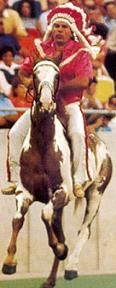 """Warpaint was a paint Pinto horse who served as the mascot for the Kansas City Chiefs from 1963 until 1989. Warpaint would run the length of the field after a chiefs touchdown with his rider """"Chief"""" in full Indian Chief garb. After the Chiefs won Super Bowl IV, Warpaint led the parade."""
