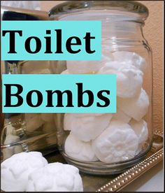 Toilet Bombs This simple recipe Deodorizes & Kills Bacteria in one quick step. Yup, just drop one in the bowl, stand back and watch it w...