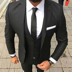 Black suit. Yes or No? 👔🌐  Follow: @accouncelor 🔙🔙🔙  .  .  .  .  .  #suitup #dandy #dandystyle #dressforsuccess #mensfashionreview #mensfashionreport #mfrmagazine #gqstylehunt #styleiswhat #menwithstyle #guyswithstyle #mensfashions #mensfashionstyle #mensfashiontips #menslook #menslookbook #mens #madetomeasure #bestdressed #menstyleguide #modernmen #simplydapper #styleformen #dapperlydone #themanity #menwith #suitandtie #accouncelor 📷: @bestofmenstyle