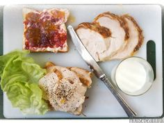 Day-After-Thanksgiving Turkey Sandwich:  Good white bread slathered with mayonnaise, a spoonful of turkey drippings or gravy, and Cranberry-Port Gelée with a leaf or two of crisp lettuce and a pile of thinly sliced turkey breast meat, seasoned with lots of salt and pepper.