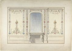 John Dibblee Crace (British, 1838–1919). Elevation of Fireplace Wall in an Elizabethan Revival Room, ca. 1870–90. The Metropolitan Museum of Art, New York. William E. Dodge Fund and Fletcher Fund, 1967 (67.736.8)