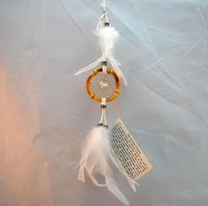 Tiny White Dreamcatcher with a cute white Scottie dog, car dreamcatcher, 2 inch, dog dream catcher, Scottie lover, pet dreamcatcher, boho by OriginalsByCathy on Etsy