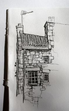 of building in Dean village, Edinburgh by Aileen McGibbon. Pencil on pape.Sketch of building in Dean village, Edinburgh by Aileen McGibbon. Pencil on pape. Urban Sketching for Beginners Pen & ink drawing by Joaquim Francés - - Wash day . Building Drawing, Building Sketch, Building Art, Art Drawings Sketches, Pencil Drawings, Easy Drawings, Arte 8 Bits, Architecture Sketches, Sketches Of Buildings