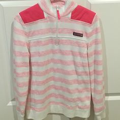 Shep Shirt Sz Small NWOT New pink and white Shep Shirt. Gift but too heavy fabric for what I like. Just the first one I've owned so didn't know. Mint Vineyard Vines Tops Sweatshirts & Hoodies