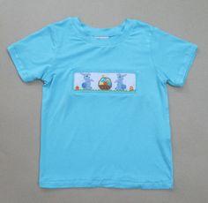 15dfb615b Smocked Tee Runs a Size Big Easter Bunny, Smocking, Tee Shirts, T Shirts