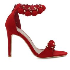 Willa-01 Bauble Jewel Detail Single Sole Heels