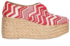 Jeffrey Campbell Raffia and Rope Lace up Wedges