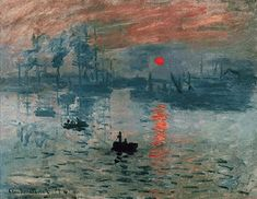 Impresión Sol Naciente. Claude Monet.