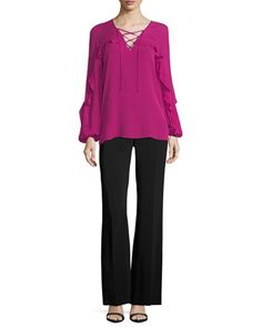 Melina+Wide-Leg+Pants+and+Matching+Items+by+Kobi+Halperin+at+Neiman+Marcus.