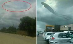 Human-shaped cloud appears above Zambian shopping centre