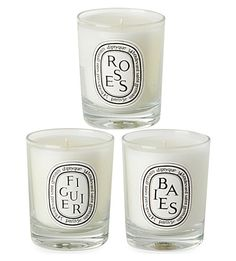 Bouquets of flowers aren't the only sweet smelling gift available - this trio of mini candles offer the perfect alternative <3
