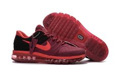 Clearance Nike Air Max 2017 Wine Red Black Sports Running Shoes Online Store - $69.88