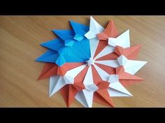 (7) 4TH OF JULY DECOR DIY| EASY PATRIOTIC PAPER WREATH| SUMMER ROOM DECORATIONS IDEAS - YouTube