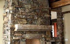 Custom Stone Fireplaces Fireplace & Rockwork   Hackbarth Construction