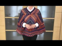 How to Knit - Easy Poncho Blanket Prayer Shawl Patterns, Knitting Patterns, Crochet Patterns, Crochet Shawl, Knit Crochet, Easy Knitting, Crochet Clothes, Men Sweater, Women