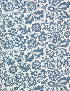 William Morris wallpaper - a toile type pattern in colonial blue