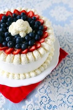 Red, White & Blue Cake of Yummies!