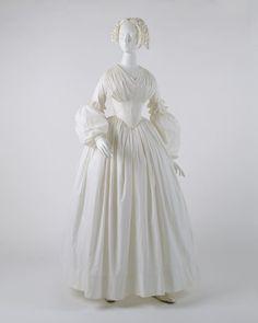 1840, l'Amérique Robe d'été en coton Musée