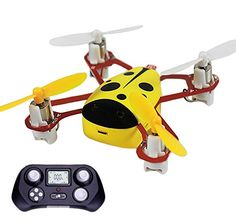 CHEER X1 2.4G 4CH 6-Axis GYRO Headless Nano RC Quadcopter Mini UFO Drone Yellow *** More info could be found at the image url.