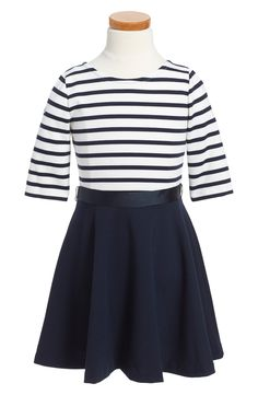 Ralph Lauren Ponte Knit Skater Dress (Toddler Girls & Little Girls)