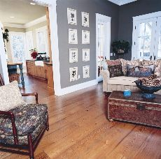 Heart Pine Flooring Love The Floors Wall Color And White Trim