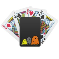 Halloween Ghosts Cute Playing Card Playing Cards