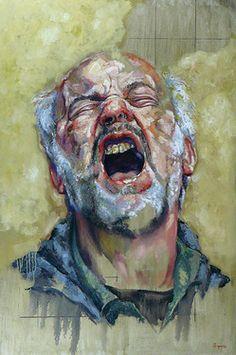 "Saatchi Online Artist Pablo. E Schugurensky; Painting, """"El grito"""" #art"