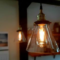 Glass Pendants, Old Houses, Light Bulb, Restoration, Lighting, Home Decor, Old Homes, Bulb Lights, Homemade Home Decor