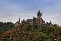 Reichsburg Castle by mikki_rat_  trees sky city travel clouds europe tourism architecture tree building green castle germany mountain