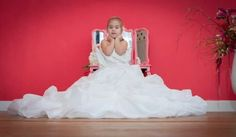 Take photo's of your daughter in your wedding dress!  To give to her on her wedding day. Photo's taken by Lies Warmerdam.