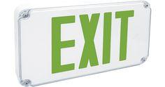 Fulham Wet Location LED Exit Signs #BuildingEnvelopeExteriors #FacilityBlog #NewProductFlash