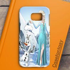 Olaf And Elsa Art Samsung Galaxy S6 Edge Case | casefantasy