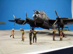 "Avro Lancaster B. Mk.III ""S-Snowwhite"" Lancaster Bomber, Model Building, Ww2, World War, Fighter Jets, Action Figures, Aircraft, Dioramas, Scale Model"