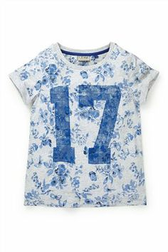 Buy Grey All-Over-Print Floral 17 Top (3-16yrs) from the Next UK online shop