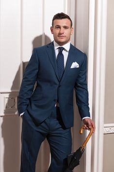 English rugby union player Danny Care wearing his Austin Reed bespoke suit