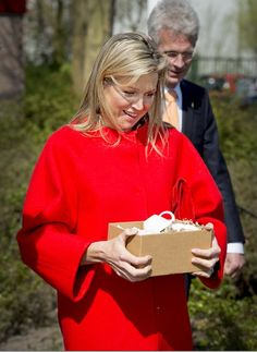 Queen Maxima of The Netherlands visited a winning project of the Appeltjes van Oranje 2015 support foundation Food focus on April 14, 2015 in Amersfoort, The Netherlands