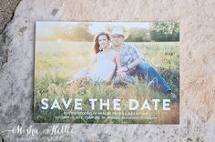 Cute outdoor save the dates for wedding